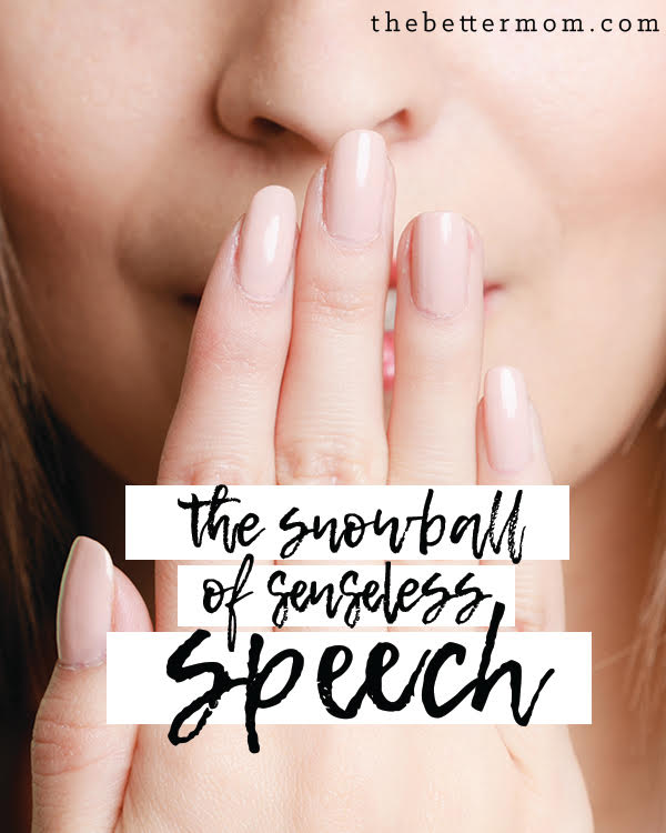 There is a type of speech that requires our restraint. It is godless, and spirals into more areas of our lives. When we let it control our mouths it takes over everything. Do you play with this fire? If you do, it's time to put it out!