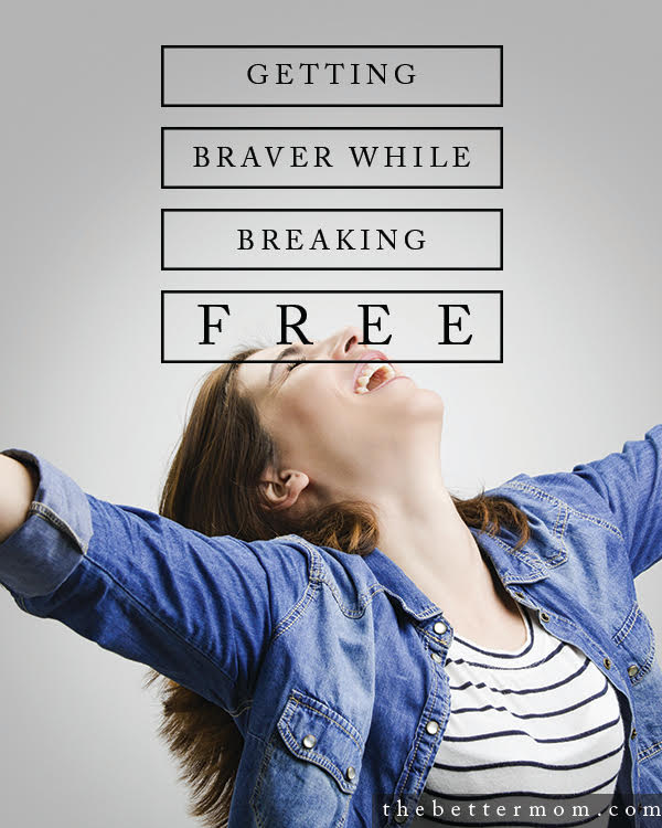 You know those things holding you back? Gripping at you? Keeping you tied up? You can experience freedom from them. Come be brave today....