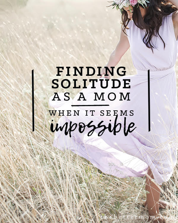 Do you ever feel guilty for wanting some alone time? Solitude is a gift from God to recharge and refill. Is your soul craving time alone with Jesus? Find him in the quiet today.