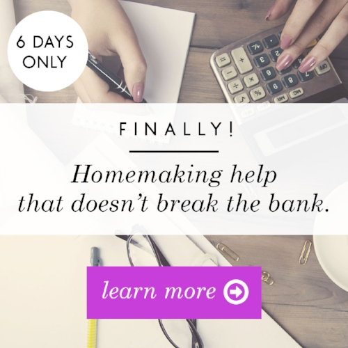 Are you overburdened? Exhausted? Mothering and homemaking isn't easy for any of us! That's why these resources are here to help you. Don't miss a chance to dive in and get them all this week!
