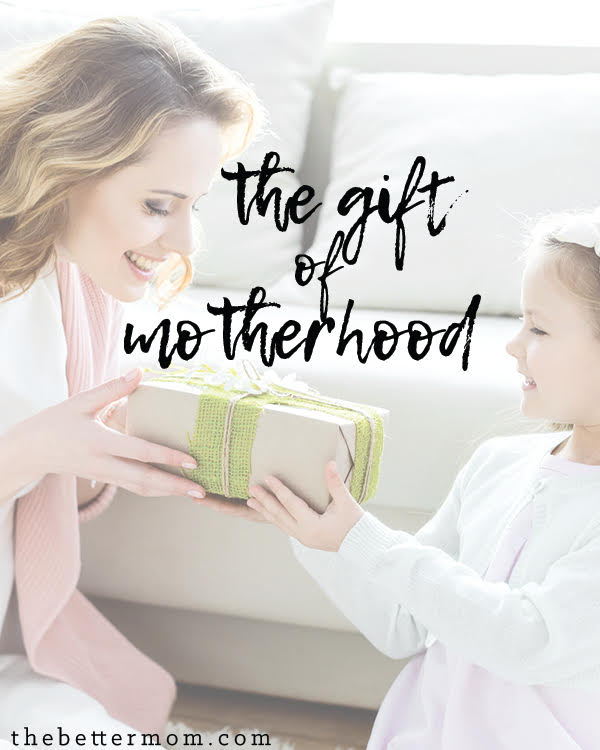 Do you see motherhood as a gift? In the bustle of our days, we can often forget the sweetness of being a mom. Take time to remember what God has given and to receive it!