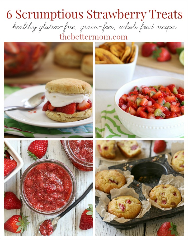 Do you love strawberries?? Here are six scrumptious gluten-free strawberry recipes that are sure to be a hit in your home!