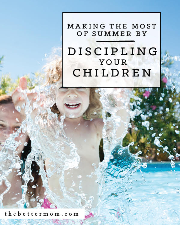 Slower days and new schedules mean only one thing....Summer is here! How are you going to reach your children's hearts in this season? Here's why it's the perfect time to be more intentional than ever with how you shape them.