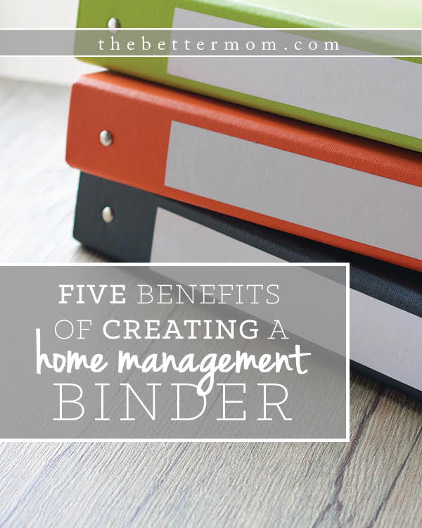 Do you need help organizing life at home? Consider ditching technology to find the  benefits of a simple binder that you can hold in your hand! Here's how to put one together!