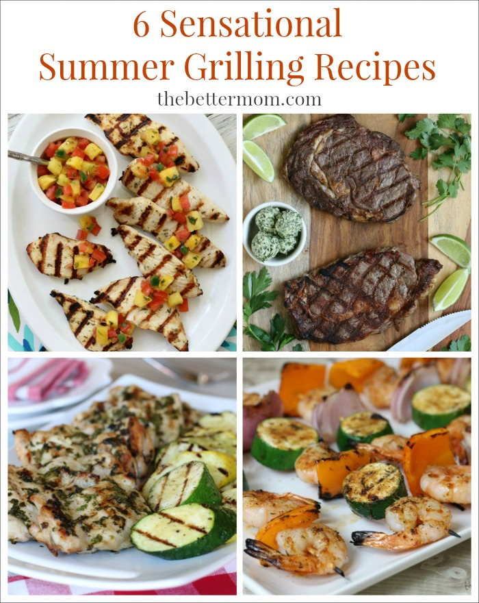 Firing up the grill is one of the easiest ways to get a healthy meal on the table in just minutes! Another plus is that grilling results in less mess and less dishes. And of course, you just can't beat the savory flavor of grilled meats, which is why it's one of my favorite cooking methods. You will LOVE these 6 sensational summer grilling recipes!