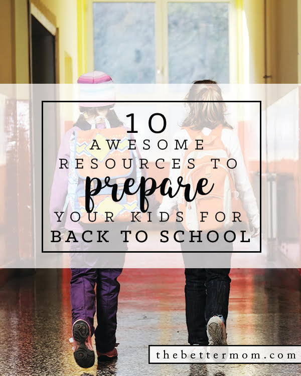 We might not want to go there yet, but back to school is lurking! When we prepare we'll, we can create excitement and help our families be successful. Here's 10 great ways to get your kids ready for the season ahead.