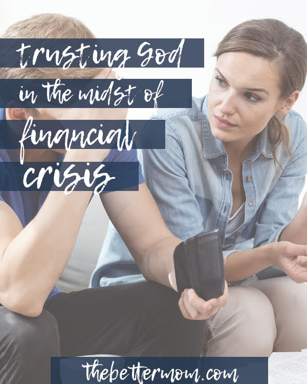 Are you carrying the burden of financial stress? It can can feel scary and isolating, but you are not alone! This question can help change your perspective and your heart.