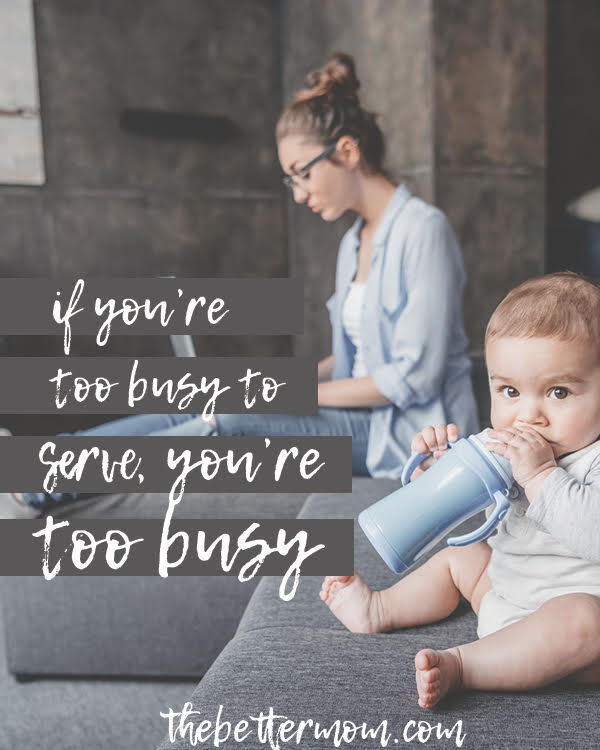 Have you been guilty of doing so much good that you are no good to anyone? Overwhelm and burnout are often the result of an overpacked schedule. Today, let's put off being busy so that we can serve the people we are called to most.
