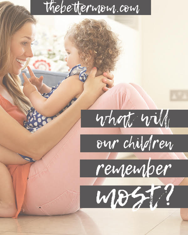 What will you do today with your children to make the moments count? As you consider what to take on this school year, don't neglect what is the most important piece in making your home a place of belonging that your children long to return to.