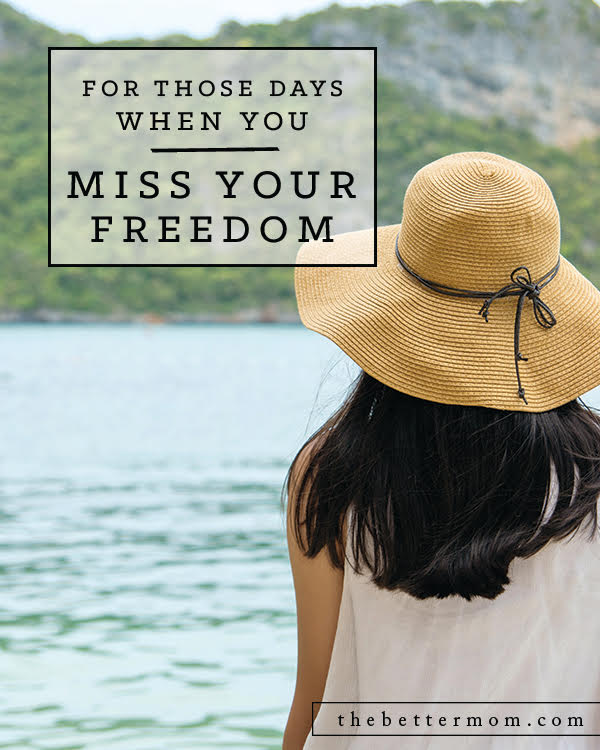 Ahhh freedom! The promise of some alone time is so close you can taste it -right before you are pulled back in by the needs of your family. This season of mom in demand never seems to quit and maybe that's a good thing! Here's why all the sacrifices you make today matter.