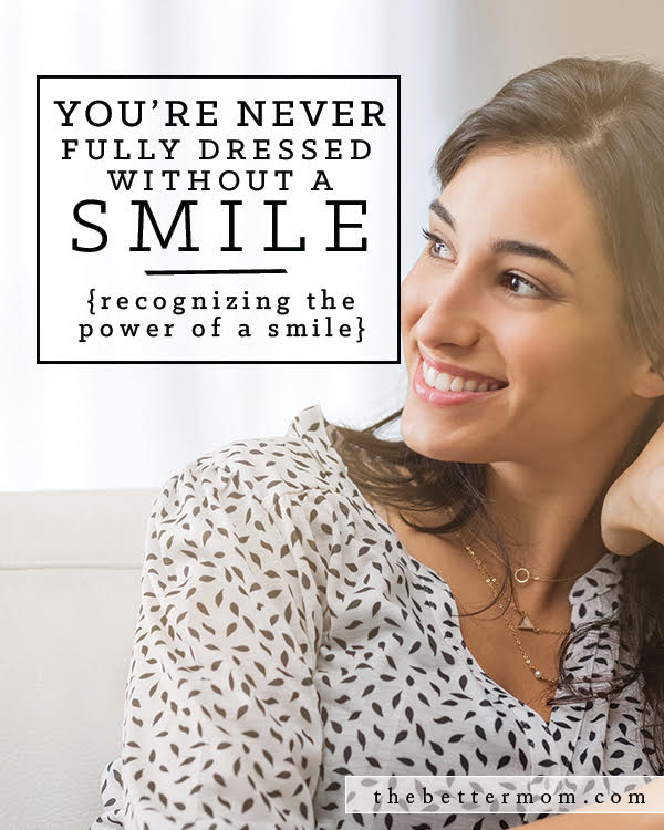 Do your children see you smile? There is so much power in such a small act- and often, those closest to us find us saving our grins for times in public or with strangers. But when we take time to deliberately smile at those we love, it speaks volumes about their value to us.