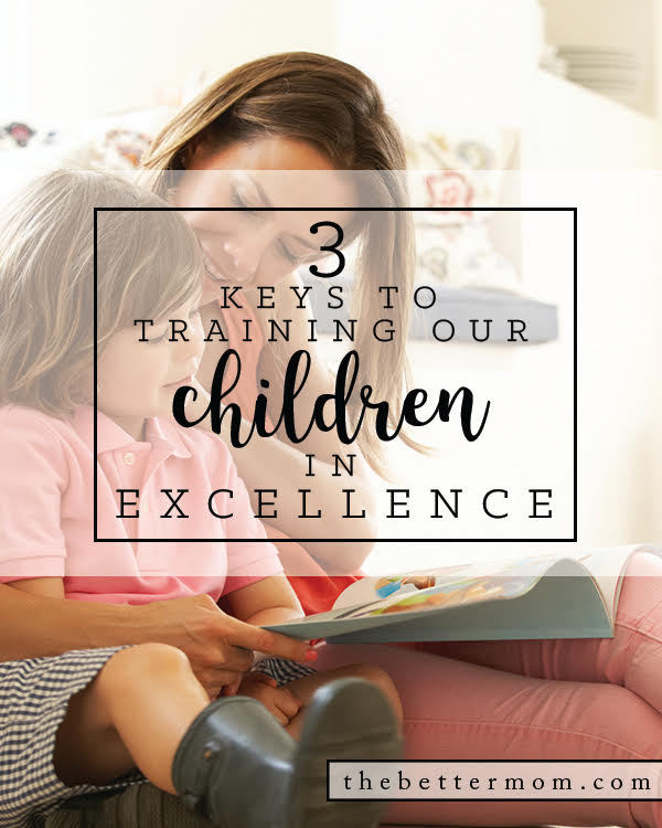 Do your children know how to work with excellence even when no one is watching? Training and supporting the growth of their character is hard work- but these ideas can help!