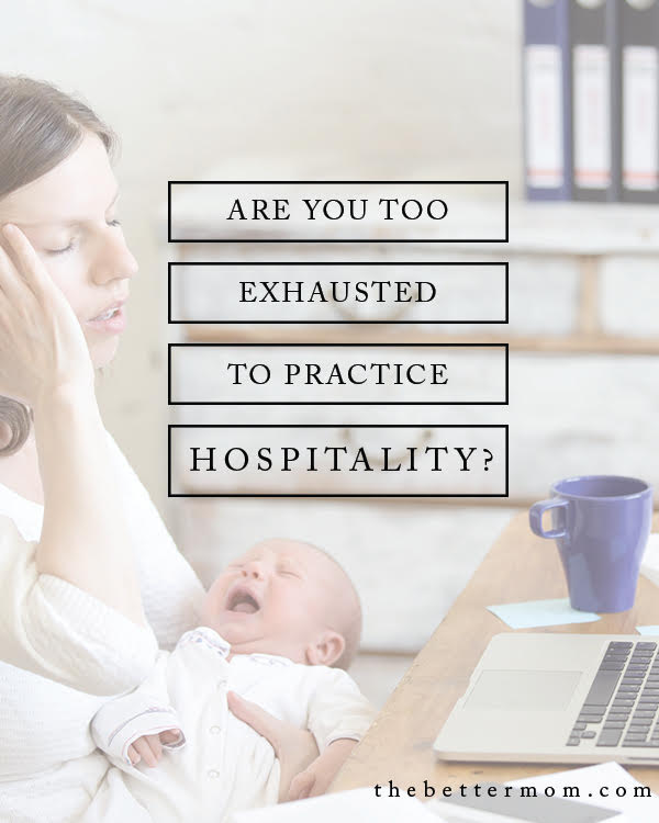 Are you too tired to welcome others in? Hospitality is a loaded word today, but it might be more simple to extend to others than you think. Today, we're taking a look at the heart of what its all about, and debunking a few myths that might be holding you back from welcoming others into your home.
