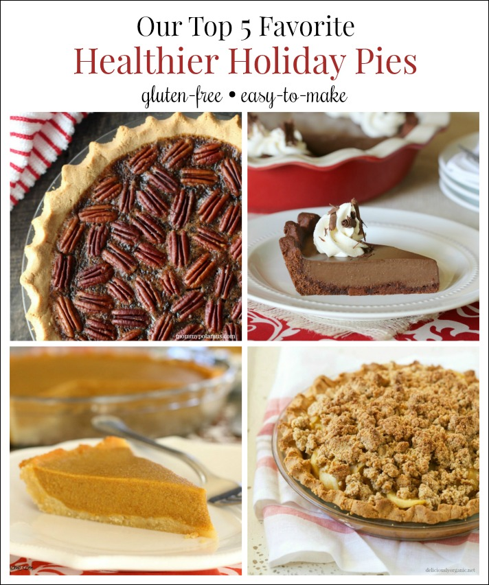 Pies are a given for the holidays but finding a healthy gluten-free version can be difficult! Here are five of our very favorite gluten-free holiday pies!!!