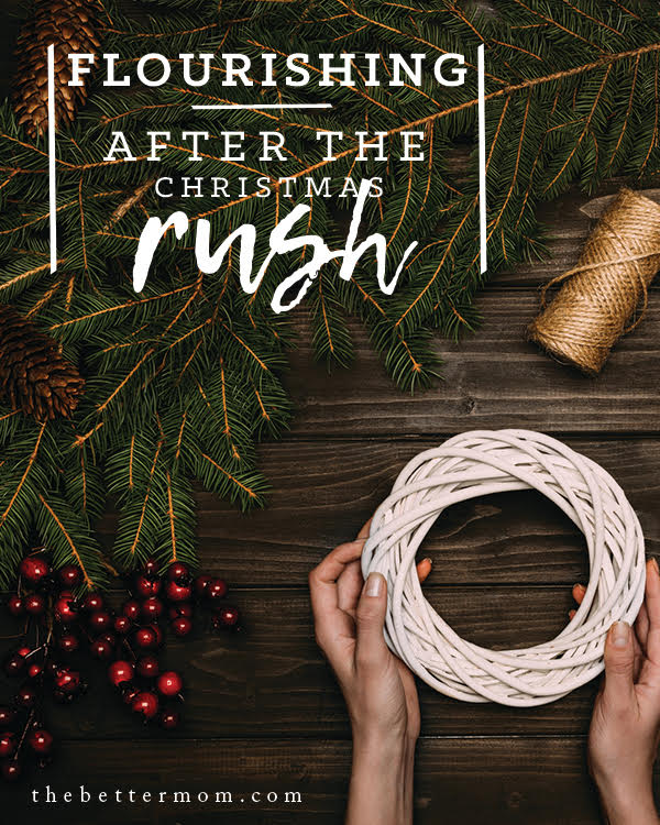 The excitement for Christmas may be building, but this busy season won't last forever. What will you do when it ends? If you need inspiration to recover a flourishing heart after the holidays, consider making a plan to invest in these four areas of your life.