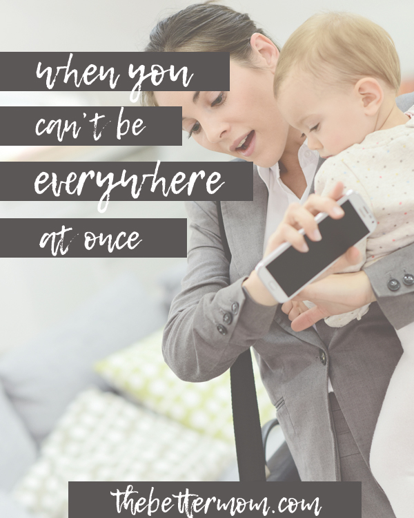 Are you spread thin? There is no way for us to be everywhere at once, and it is inevitable that at some point we will have to miss something that is important to one of our children. Here's why that's okay... and what really matters most.