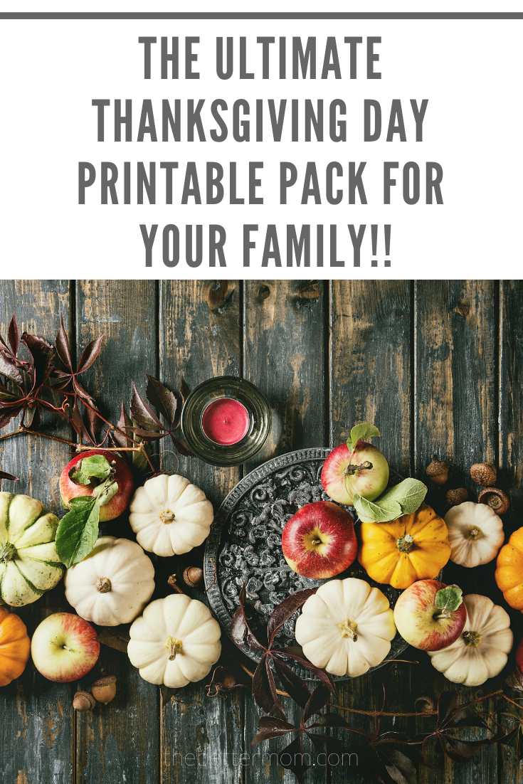 Thanksgiving can be quite hectic with family coming in, mass amounts of food being prepared and kids running around! This printable set has everything you need to tone down the stress on the day of your Thanksgiving celebration so you can enjoy the family you are most thankful for…