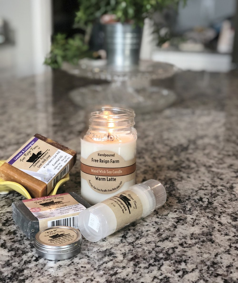 I am always on the hunt for good personal care products that are NATURAL! I was thrilled to find these that aren't only natural but they are affordable! (also they have candles you can burn without all the toxins!)