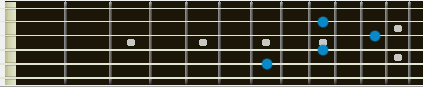 E add 9 barre chord
