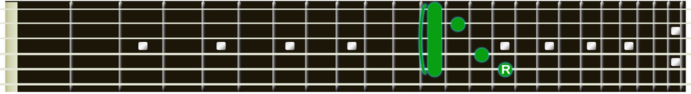 C Major chord 12th fret