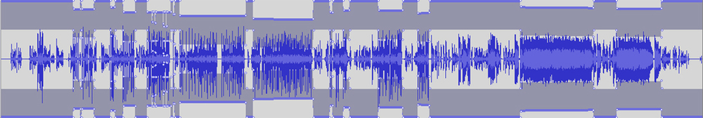 Manually compressing audio