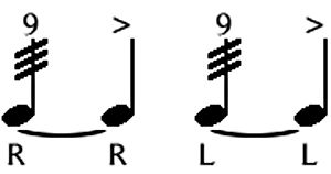 nine stroke drum roll rudiment