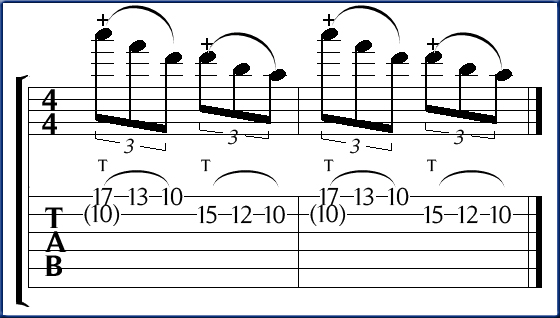 Pentatonic tapping in d minor