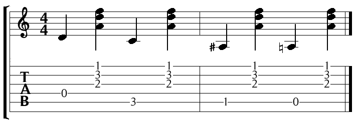descending bass guitar walk