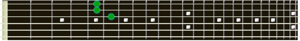 a major guitar triad 1