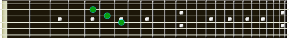A Major guitar triad 3