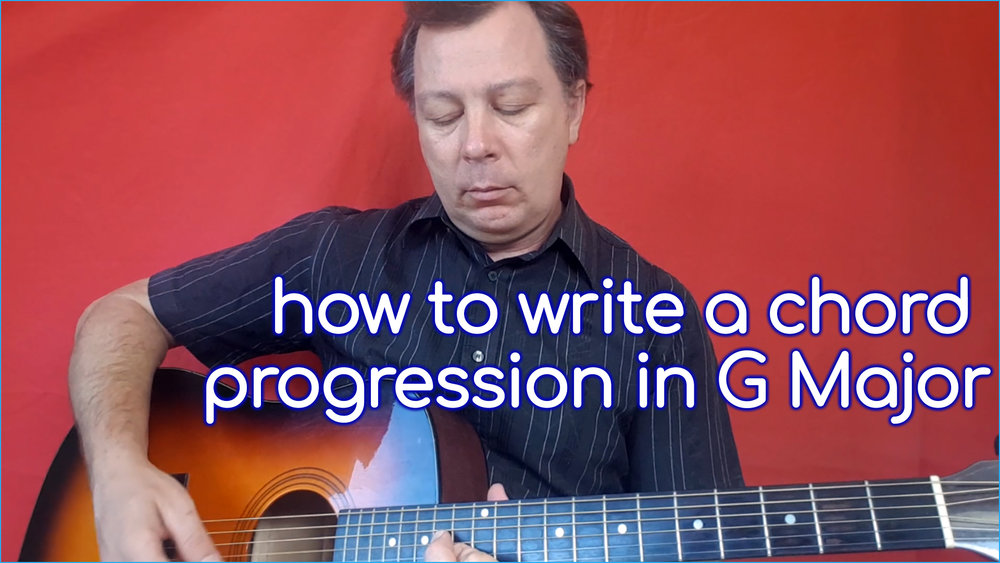 Learn the theory behind all the chords in a G Major progression, plus how to  know which chords to use when writing songs.