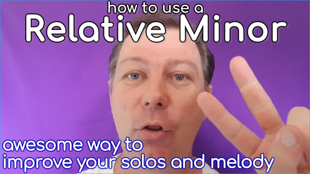 Perhaps you are wondering just what this relative minor thing is. Look no further. This cool lesson will teach you all you need to know.