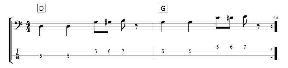 chromatic bass walk pattern 1