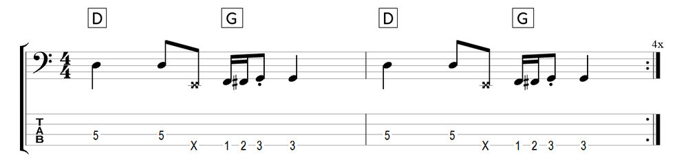 chromatic bass walks pattern 2