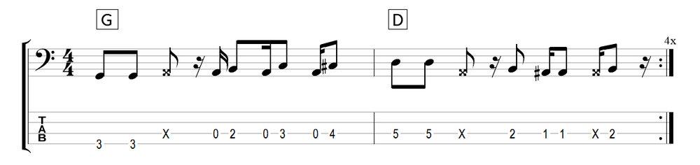 chromatic bass walk pattern 3