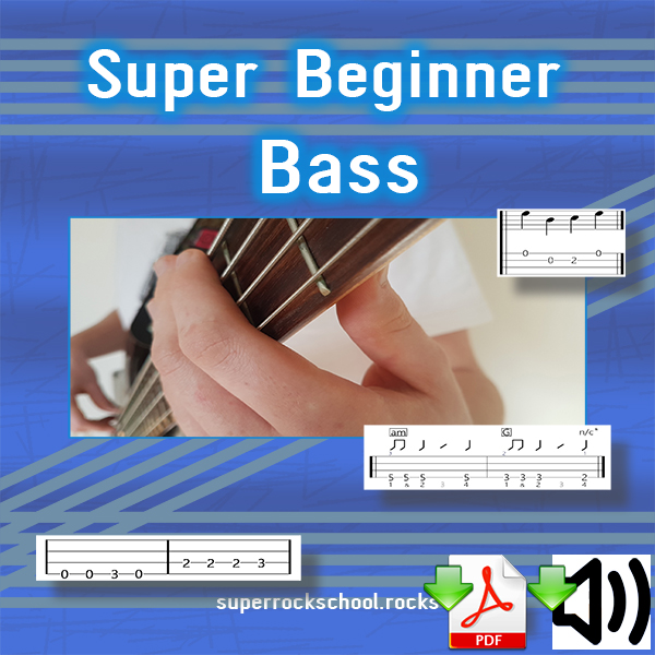 Full colour, print quality, 42 page ebook jam packed with lessons and info to give you the best start for becoming a great bass player. Includes audio for many of the examples.  Download now.