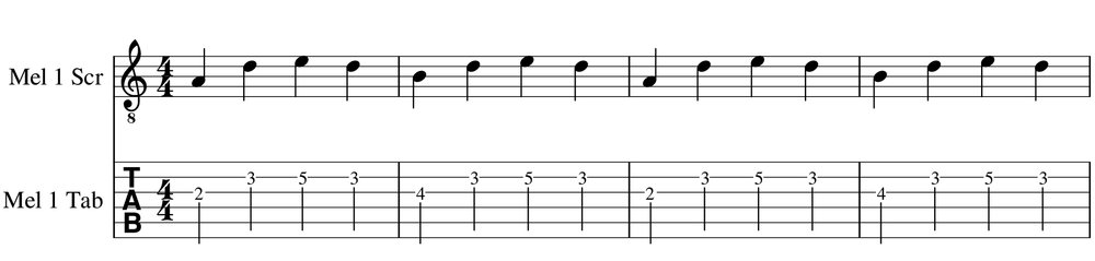 Easy melody example