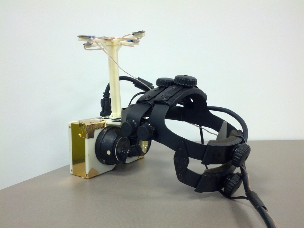 One of the original VR headsets used by Emblematic