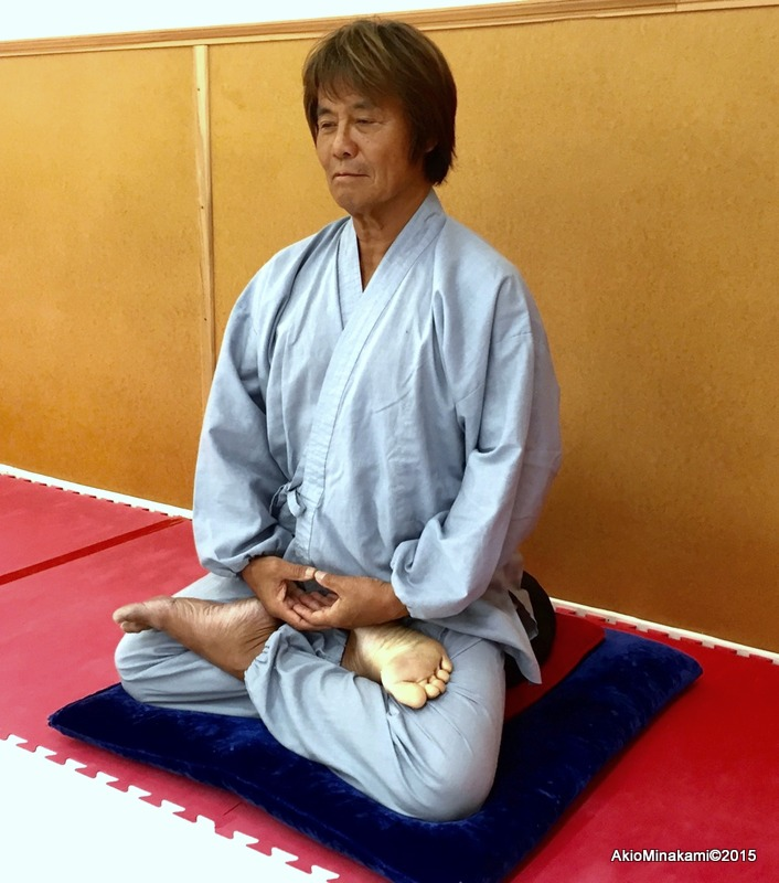 A silent Kiai is best practiced through Zazen - Akio Minakami