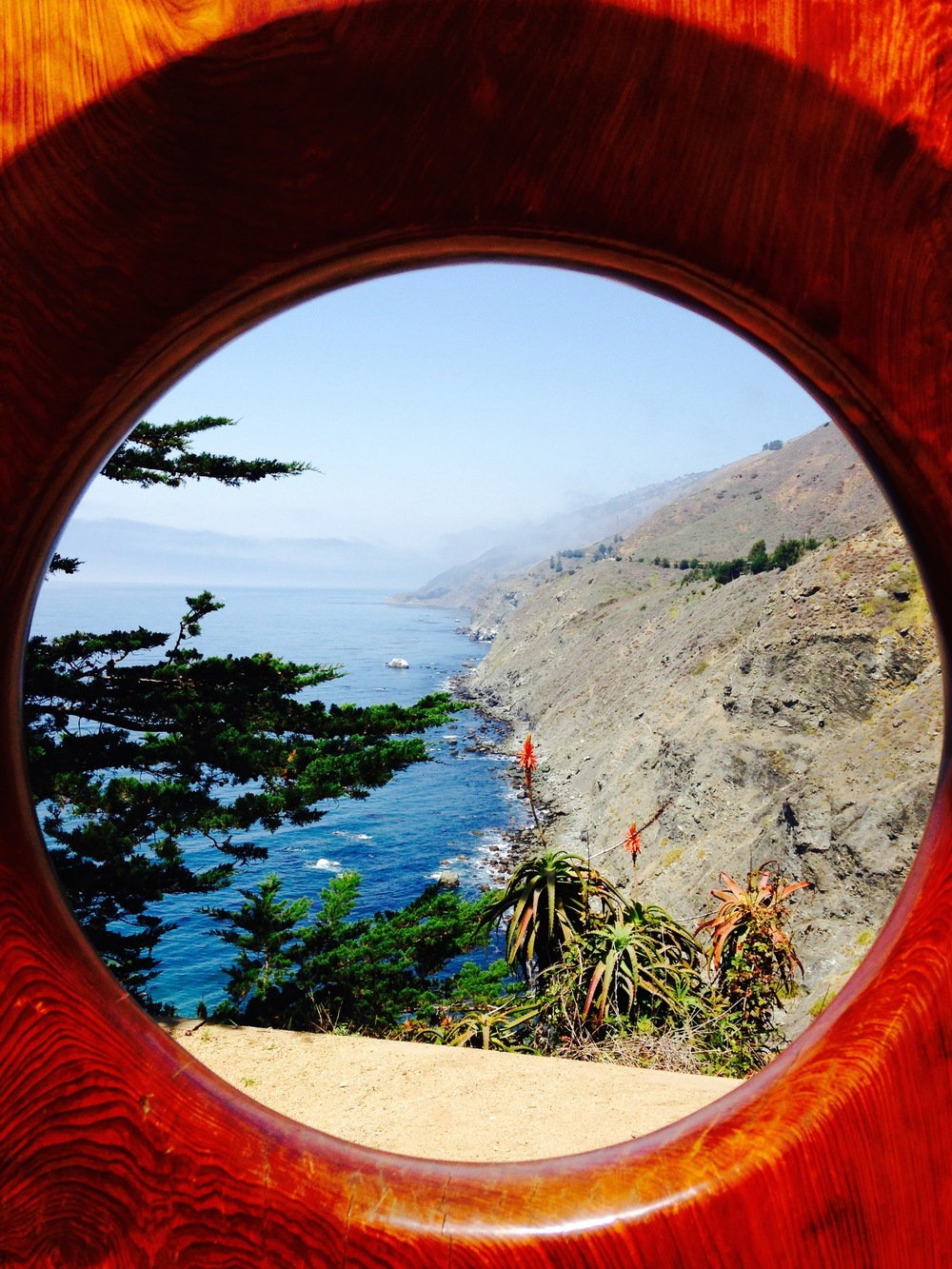 """The """"Gateway to Big Sur"""" at Ragged Point."""