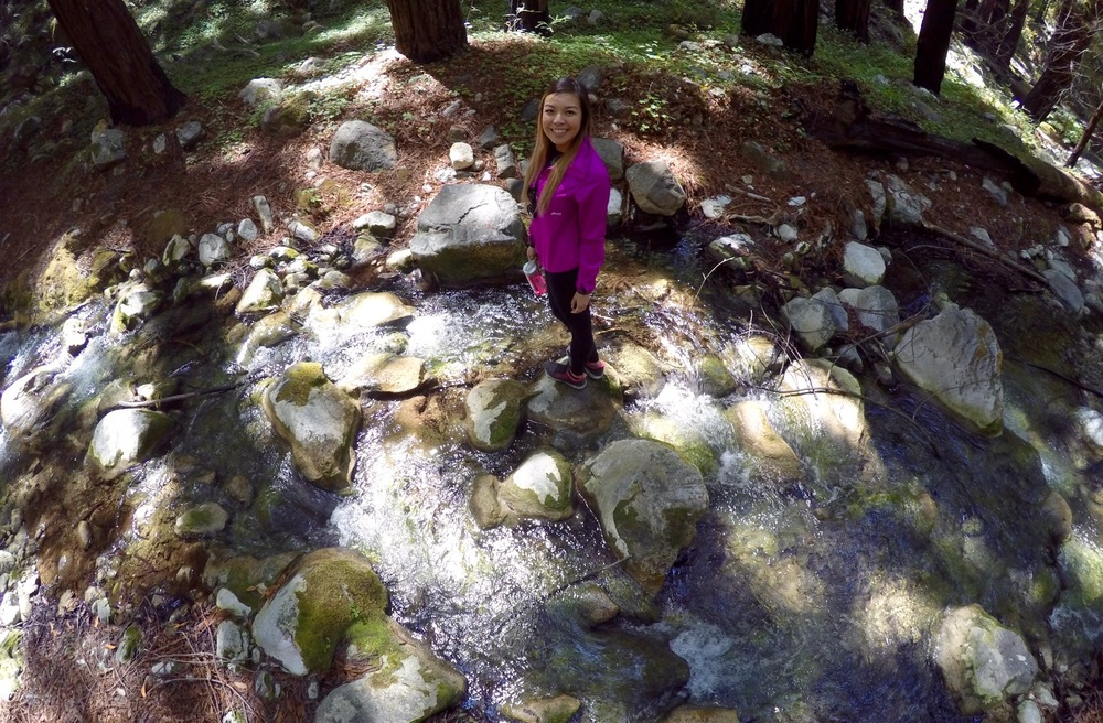 Me standing in the creek bed near our campsite.