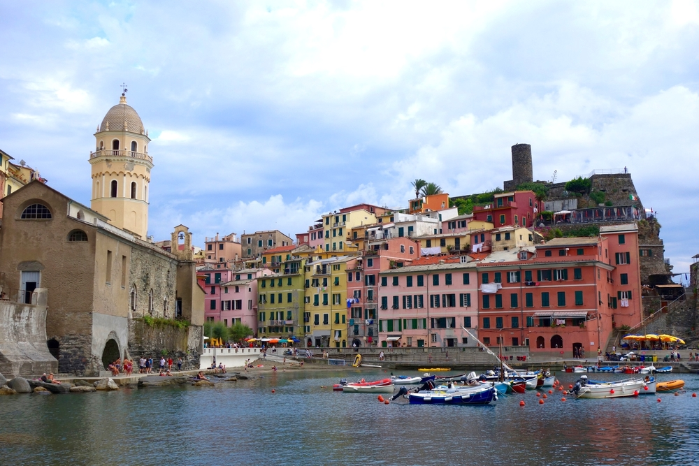 we stayed in vernazza, the fourth town.
