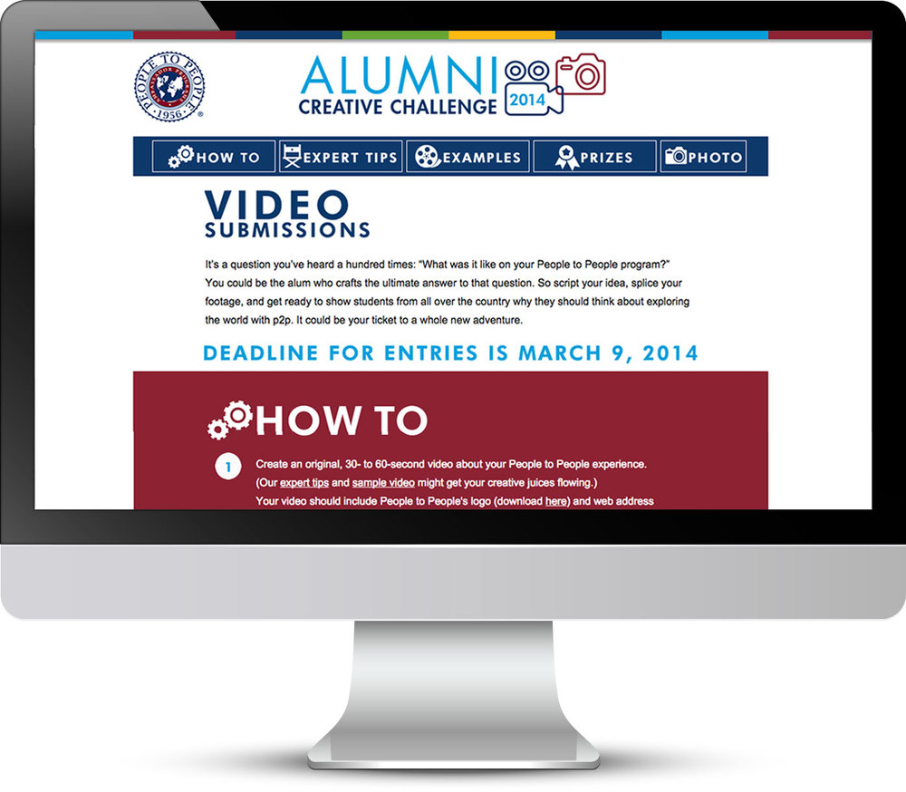 video submissions: main page