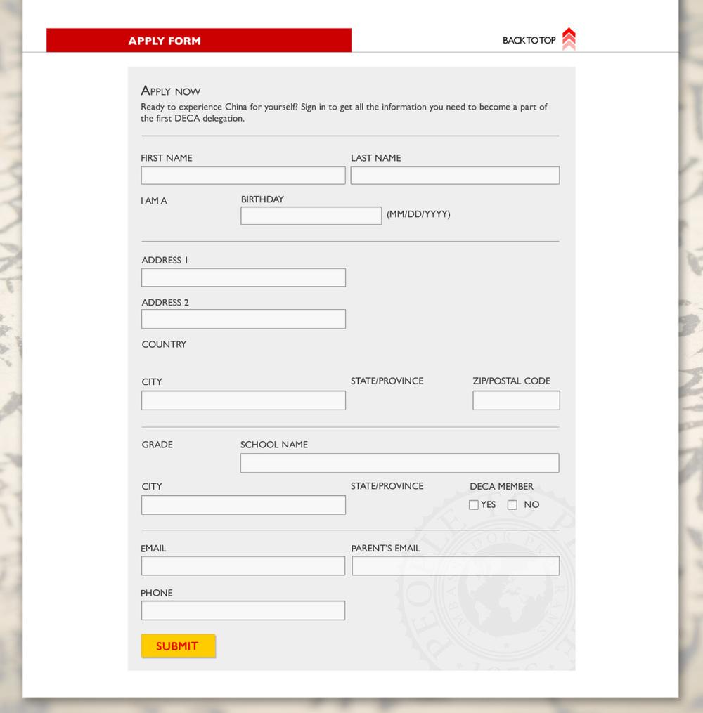 full apply form
