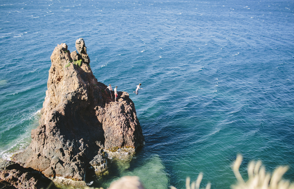 Nick cliff jumping