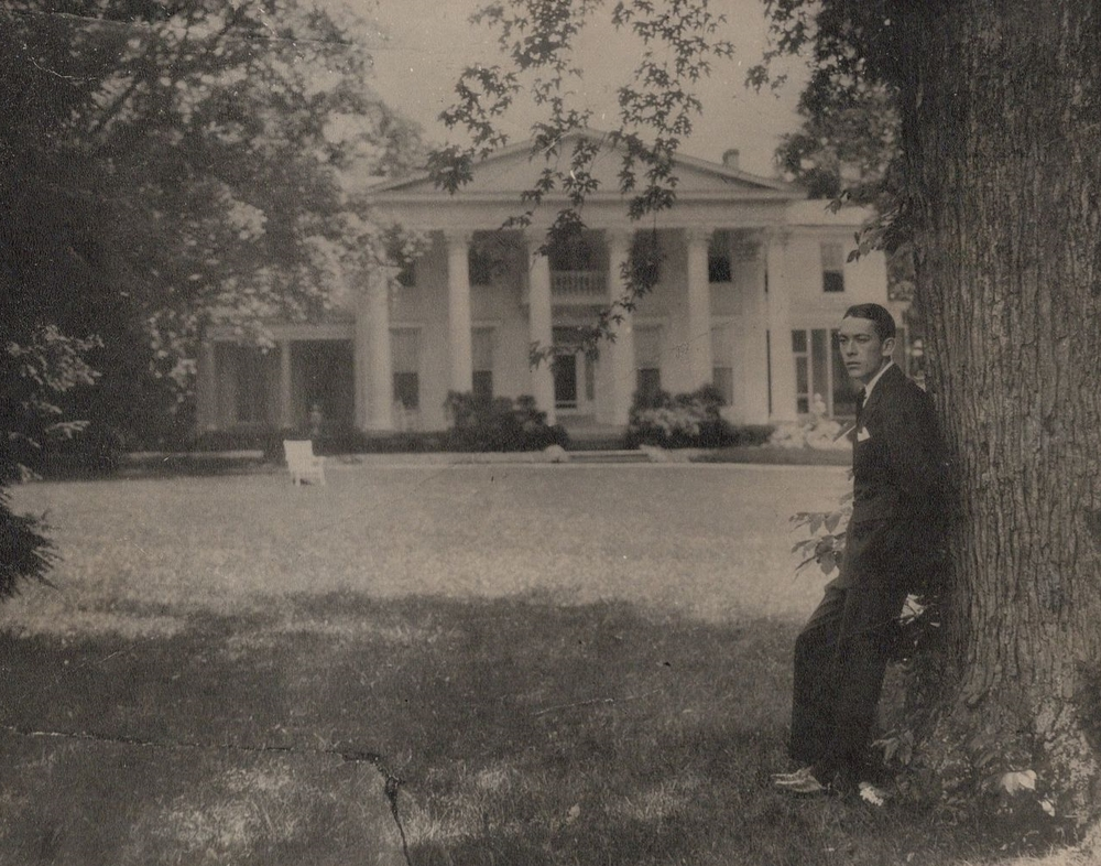 Silent Film Star Jack Pickford Poses in Front of Whitehall, Louisville, KY (circa 1922)