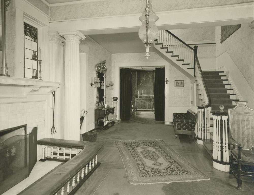 Historic Image of Whitehall's Central Hallway