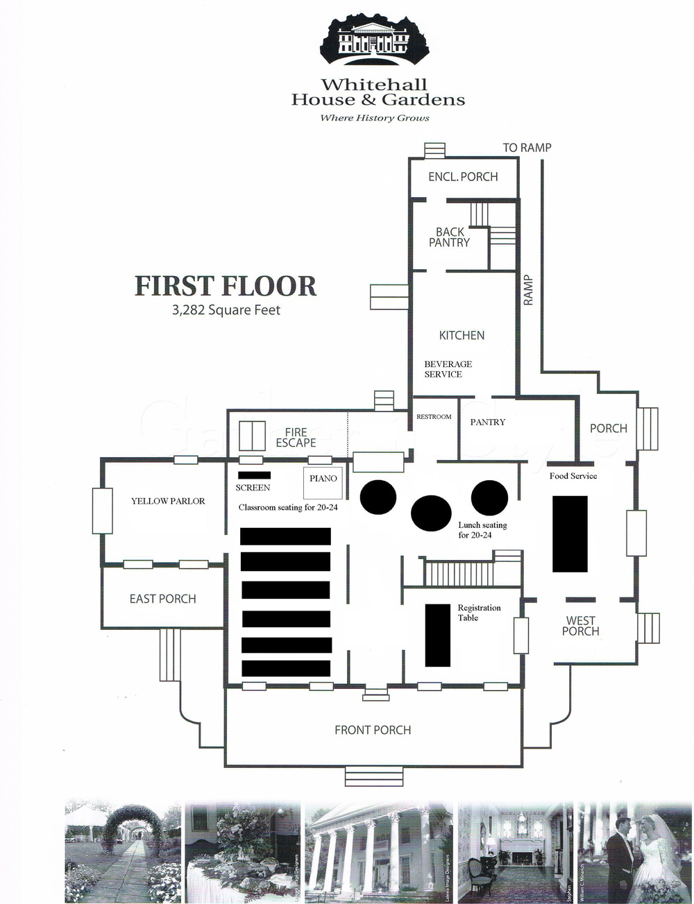 Floor Plan - Classroom Style Seating