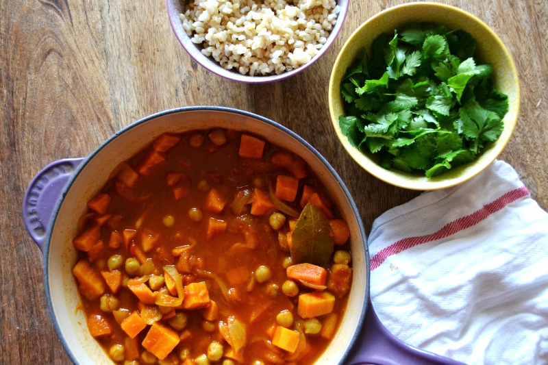 sweet potato tagine