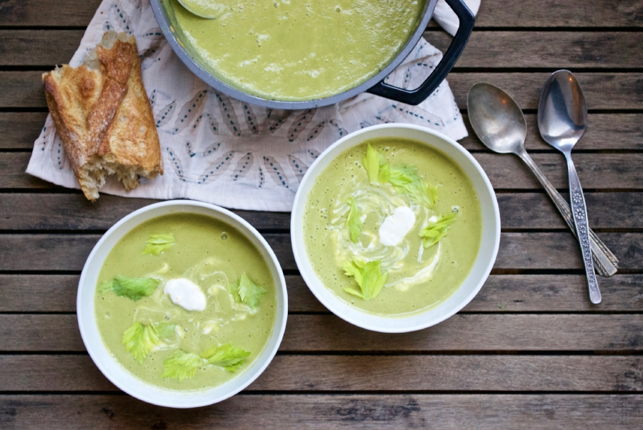 leek and broccoli soup